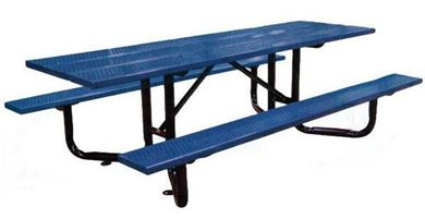 ADA 8 ft. Rectangular Picnic Table Perforated Steel