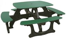 "46"" Square Recycled Plastic Bistro Picnic Table"