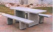7 ft. ADA Wheelchair Accessible Concrete Rectangular Picnic Table