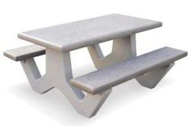 5 ft. Rectangular Concrete Picnic Table with Bolted Concrete Frame