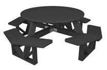 "53"" Round Recycled Plastic Picnic Table"