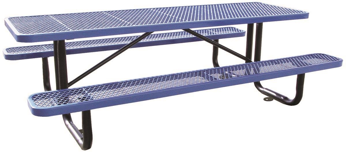 10 Ft Rectangular Thermoplastic Picnic Table Portable Or