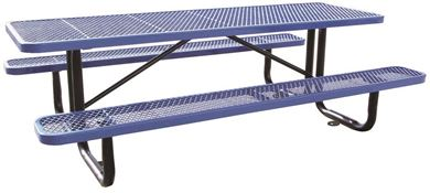 10 Ft. Rectangular Thermoplastic Picnic Table, Portable or Surface Mount