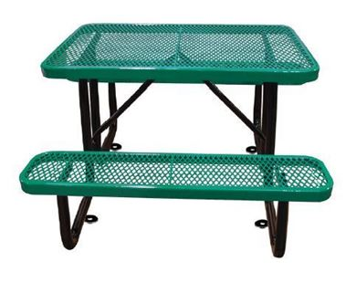 4 Ft. Rectangular Thermoplastic Picnic Table, Portable or Surface Mount