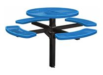 """46"""" Single Post Thermoplastic Picnic Table"""
