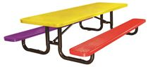 8 Ft. Children's Rectangular Thermoplastic Picnic Table, Portable or Surface Mount