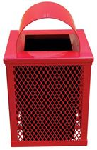 Expanded Metal Thermoplastic Trash Can