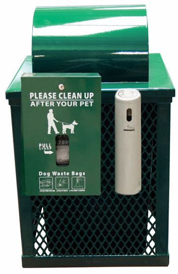 32 Gallon Square Expanded Metal Trash Can Receptacle With