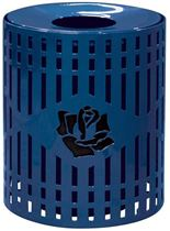 32 Gallon Personalized Logo Diamond Perforated Trash Can Receptacle