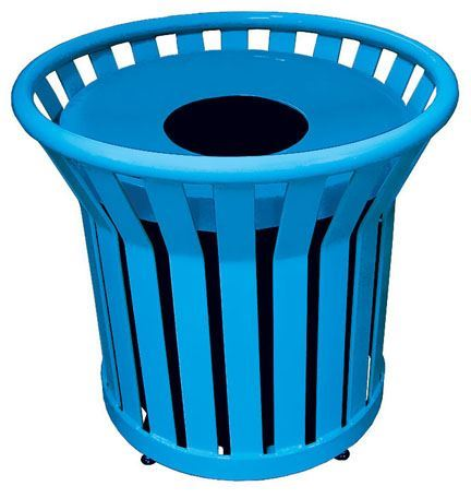 22 gallon round expanded metal trash can receptacle