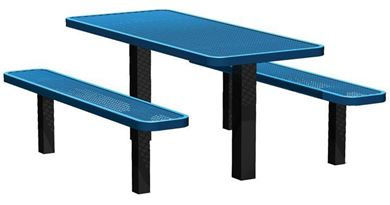 4 Ft. Thermoplastic Steel Rectangular Picnic Table, Inground Mount	EditDelete