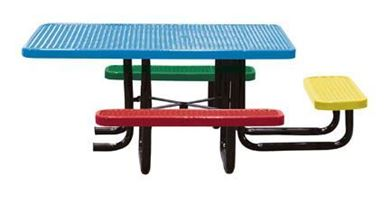"46"" ADA Wheelchair Accessible, Square Expanded Metal Children's Picnic TableS"