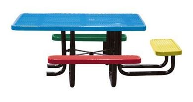 "6"" ADA Square Perforated Children's Picnic Table, Portable"