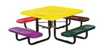 "46"" Square Expanded Metal Children's Picnic Tables"