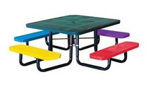 "46"" Square Perforated Children's Picnic Table, Portable or Surface Mount"