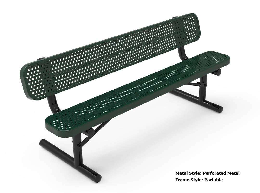 RHINO Quick Ship 6 Foot Thermoplastic Bench A Picnic Table Store Commercial Tables For