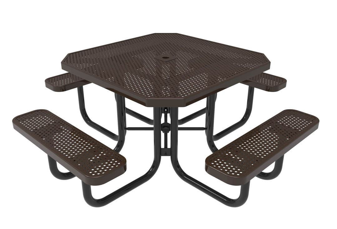 RHINO Octagonal Thermoplastic Steel Picnic Table, Portable ...