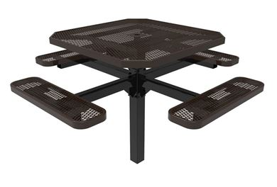 Octagonal Pedestal Picnic Table RHINO Thermoplastic