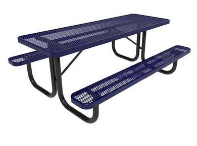 RHINO Quick Ship Rectangular 8 Foot Thermoplastic Picnic Table, Portable, 264 lbs.
