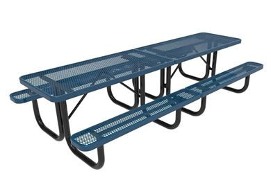 RHINO Quick Ship 10 Foot Thermoplastic Steel Picnic Table, Portable