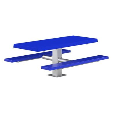 "6 ft Rectangular Fiberglass Picnic Table with 6"" Square Tube Frame"