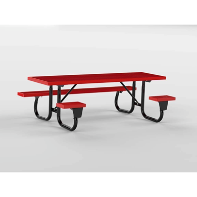 6 ft ADA Wheelchair Accessible Plastisol Picnic Table Welded Galvanized Steel Frame