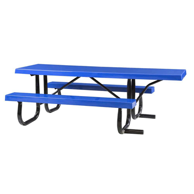 8 ft ADA Wheelchair Accessible Fiberglass Picnic Table Welded Steel Frame