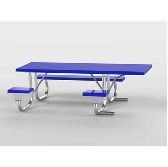 8 ft ADA Wheelchair Accessible Fiberglass Picnic Table Welded Galvanized Frame