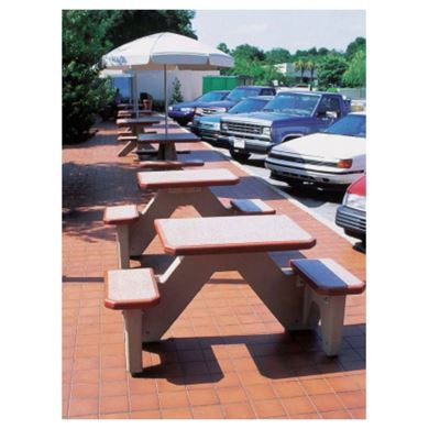 ADA Square Concrete Picnic Table with Bolted Concrete Frame