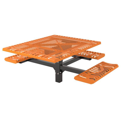 ADA Wheelchair Accessible Thermoplastic Steel Picnic Table
