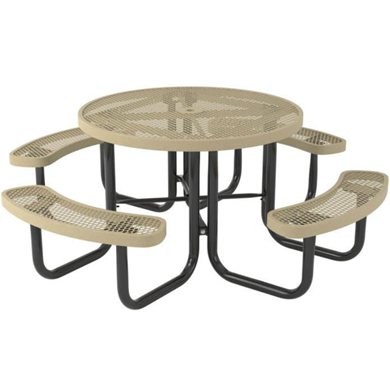 Round Thermoplastic Steel Picnic Table Regal
