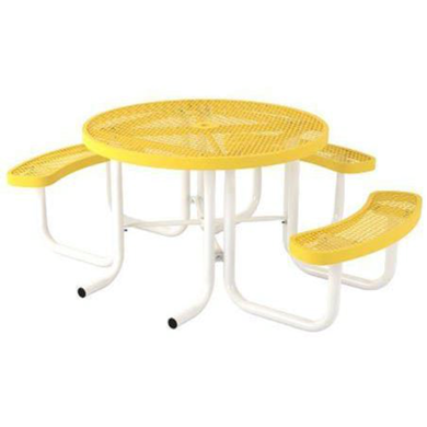 ADA Wheelchair Accessible Round Thermoplastic Picnic Table