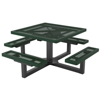 Square Thermoplastic Picnic Table, Regal Style