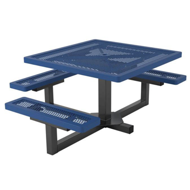 "ADA Wheelchair Accessible 46"" Square Thermoplastic Steel Picnic Table, Regal Style"