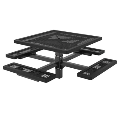 Square Thermoplastic Steel Picnic Table, Regal Style