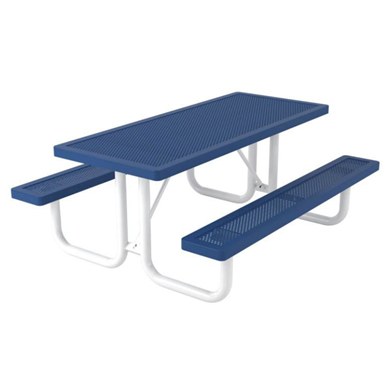 Rectangular Thermoplastic Steel Picnic Table Innovated Style