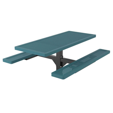 6 ft. Rectangular Thermoplastic Steel Picnic Table Innovated Style