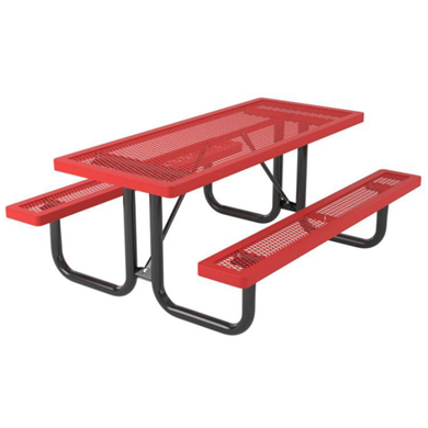6 ft. Rectangular Thermoplastic Steel Picnic Table, Regal Style