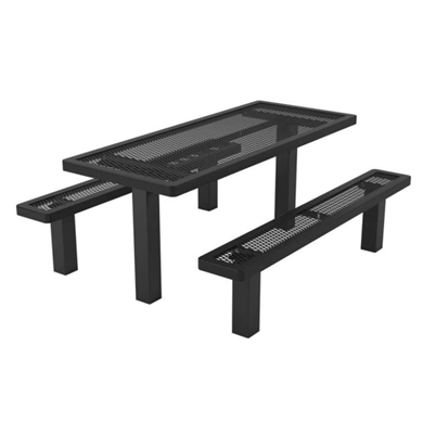 6 ft. Rectangular Thermoplastic Steel Picnic Table Regal Style