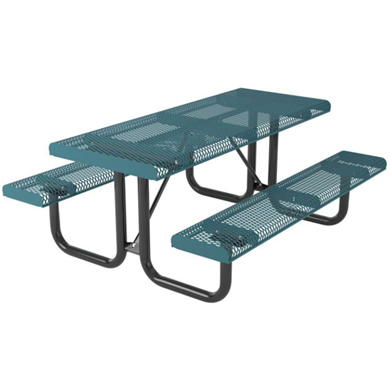 6 ft. Rectangular Thermoplastic Steel Picnic Table