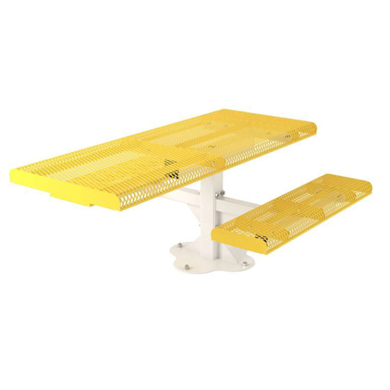 Rectangular Thermoplastic Steel Picnic Table Rolled Style