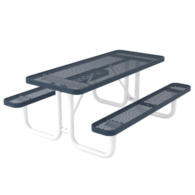 Rectangular Thermoplastic Steel Picnic Table, Ultra Leisure Style