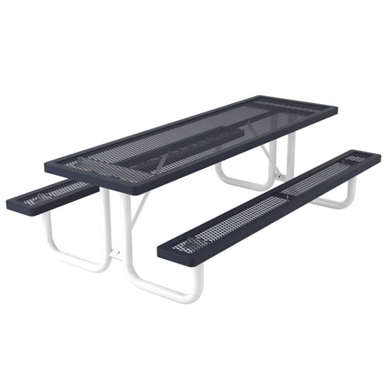 8 ft. Rectangular Thermoplastic Steel Picnic Table, Regal Style