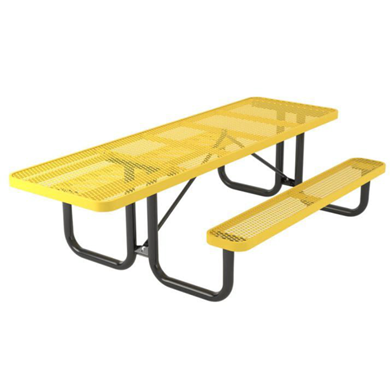 ADA Compliant Wheelchair Accessible 8 ft. Rectangular Thermoplastic Steel Picnic Table, Ultra Leisure Style