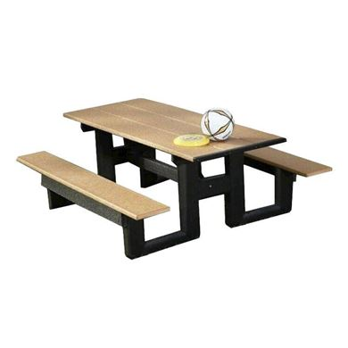 6 ft. Recycled Plastic Commercial Picnic Table Rectangular